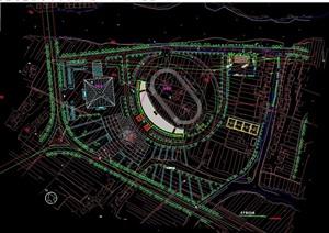 某体育馆中心规划详细设计cad方案图