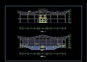 篮球球场建筑cad方案