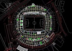 足球场场地建筑cad方案