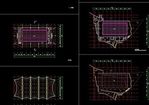 游泳馆建筑设计cad方案图
