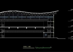 多层体育馆设计cad方案