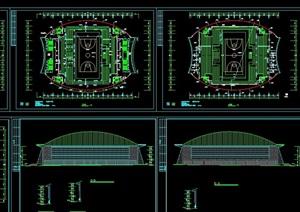 详细的体育馆建筑cad施工图