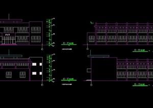 现代游泳馆建筑cad方案图