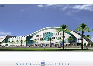 体育馆建筑设计cad方案带效果图