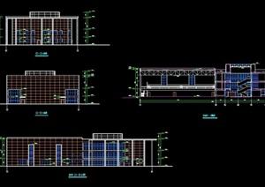 体育场馆详细多层建筑设计cad施工图