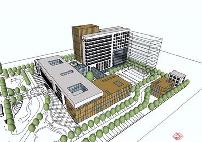 某市医院建筑设计su模型