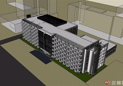 医院多层建筑楼设计su模型