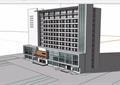现代风格医院病房楼建筑su模型