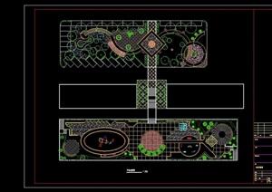 住宅中心绿地绿化cad平面布置图
