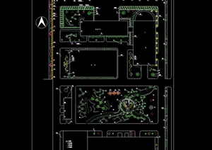 某住宅中环绿化规划cad方案