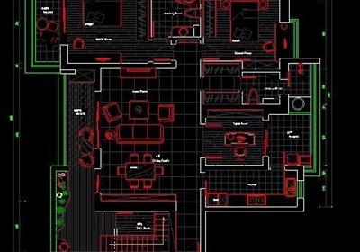 四居室家装设计方案图纸