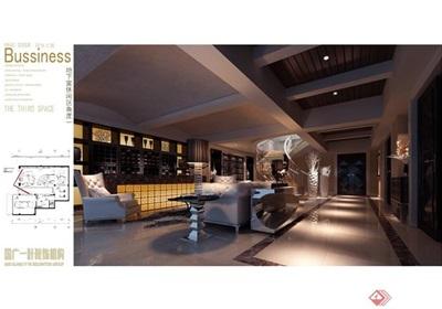 欧式风格别墅建筑及室内设计效果图