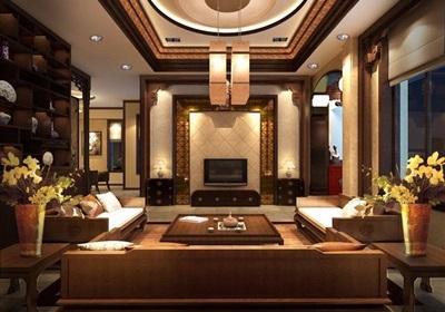 中式风格住宅家装室内设计效果图