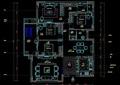 欧式四室两厅家装住宅室内施工图纸