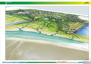 杭州湾翡翠海岸新区概念规划设计-手绘风格