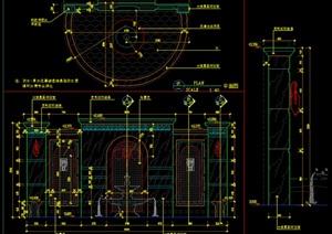 別墅水池背景墻結構施工圖