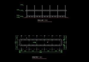 现代景观花架设计cad施工图
