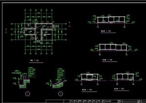 现代折形花架设计cad施工图