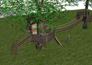 旅游景区树屋素材设计SU(草图大师)模型