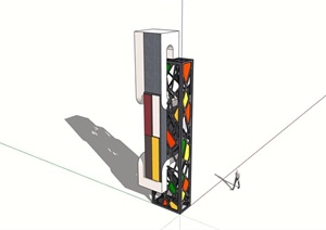 现代景观塔素材SU(草图大师)模型