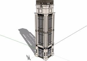 新古典风格景观塔素材设计SU(草图大师)模型
