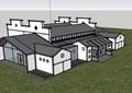 中式多层详细展览馆素材设计su模型