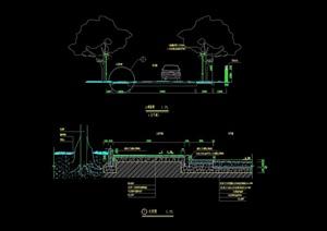 详细的园林景观道路cad施工图