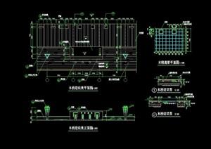 详细的完整木质栈道素材设计cad施工图