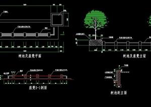 详细树池座椅设计cad施工图