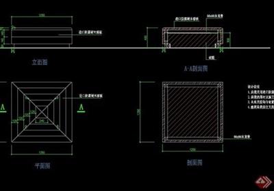 防腐木质园凳设计cad施工图