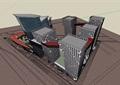 个性商业办公独特详细建筑设计su模型
