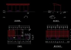 详细完整景观廊架素材cad施工图