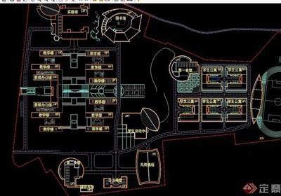 详细的中学新区规划cad方案图
