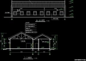 某中式食堂建筑cad施工图