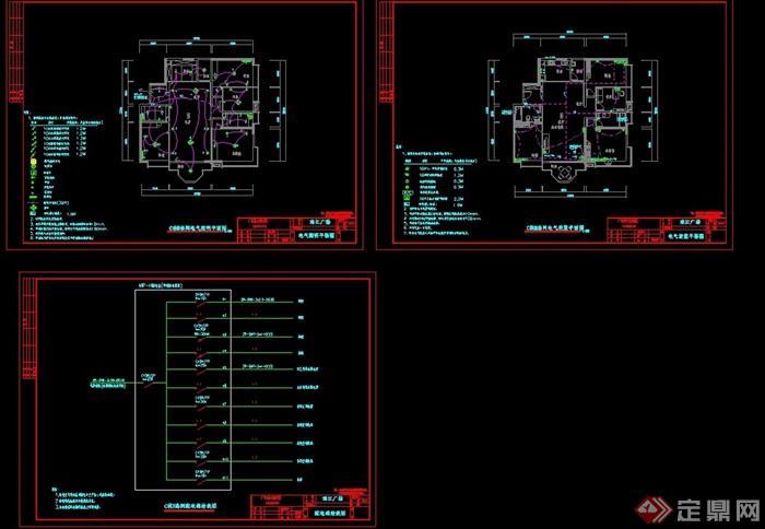 某住宅详细的建筑设计cad平面图