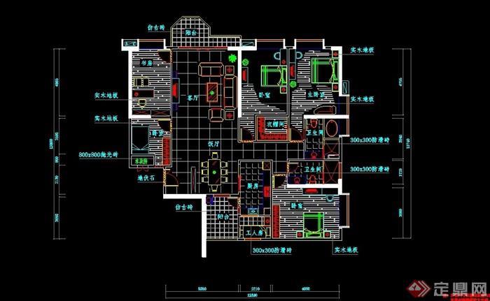 某详细的住宅建筑设计cad方案