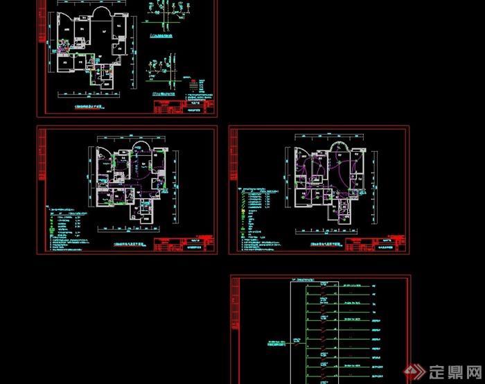 某详细完整的住宅建筑设计cad方案