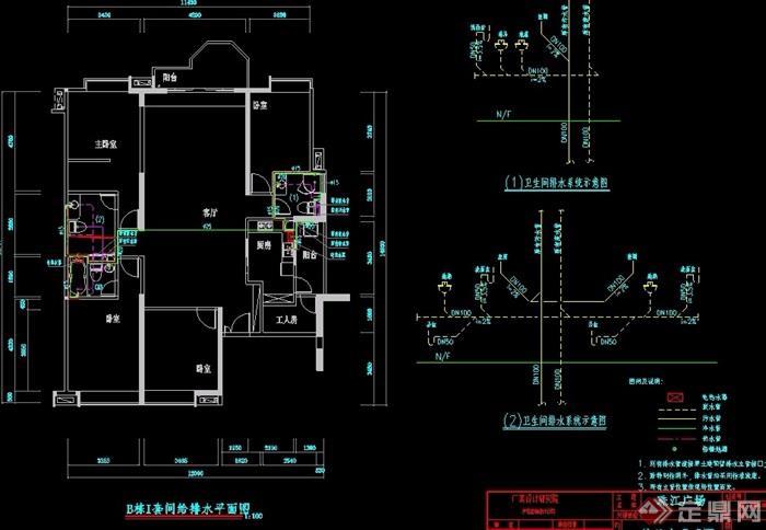 某详细的完整建筑户型设计cad方案