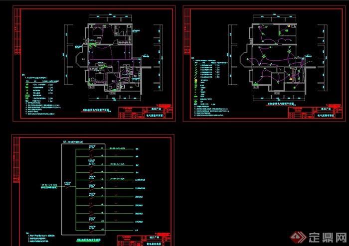 详细的住宅楼设计cad平面方案