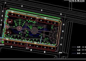 小游园详细设计cad方案套图