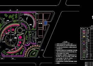 某详细的小游园设计cad施工图
