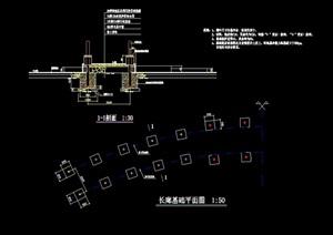 简单的长廊设计cad施工图