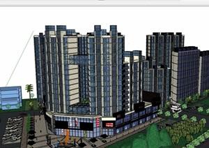 某详细的商业住宅高层设计SU(草图大师)模型