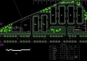某厂区详细规划景观设计cad方案