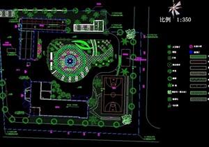 某详细的小游园绿化设计cad方案