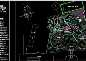 现代乡镇小游园规划cad方案