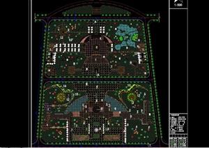 详细的详细广场绿化设计cad方案