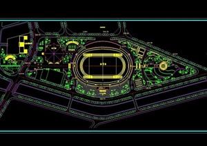 体育场景观及建筑规划cad方案图