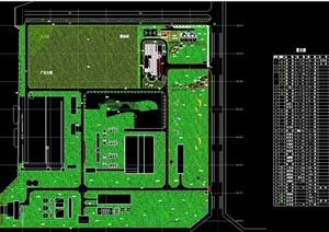某园区环境绿化设计cad方案图