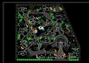 某休闲公园规划cad平面图